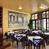 Interior of a local restaurant in Greece Royalty Free Stock Photos