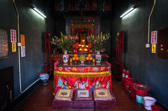 Interior of local Tin Hau Temple, Hong Kong Stock Image