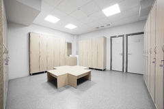 Interior of a locker or changing room Royalty Free Stock Image