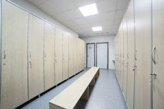 Interior of a locker or changing room Royalty Free Stock Photo