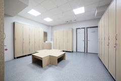 Interior of a locker or changing room Stock Images