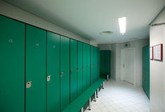 Interior of  locker room Stock Images