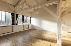 Interior loft. Interior old loft, beams and wooden floor Stock Images