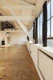 Interior loft. Interior old loft, beams and wooden floor Royalty Free Stock Photography
