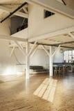 Interior loft. Interior old loft, beams and wooden floor Stock Photo