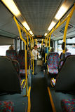Interior of London City Bus Royalty Free Stock Photography