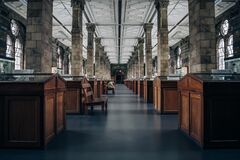 Interior of London museum Royalty Free Stock Photo