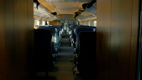 Interior of a London Passenger Train Cabin stock video footage