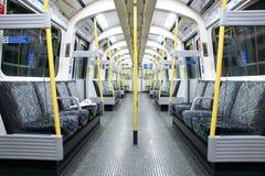 Subway train interior Stock Photography