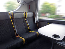 Interior of a long distance coach Stock Photos