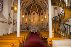 Interior of the Loretto chapel Royalty Free Stock Photo