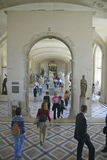 Interior of the Louvre Museum, Paris, France Stock Images