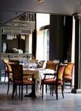 Interior lujoso del restaurante Fotografía de archivo