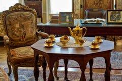 Interior lujoso elegante del viejo estilo fotos de archivo libres de regalías