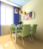 Interior of a lunch zone stock illustration