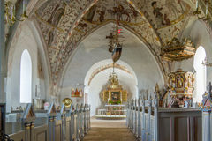 Interior of a lutheran church in Demark Stock Image