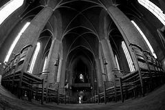 Interior of Lutheran Church Marktkirche Royalty Free Stock Images