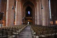 Interior of Lutheran Church Marktkirche Stock Image