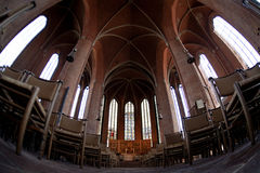 Interior of Lutheran Church Marktkirche Stock Photography