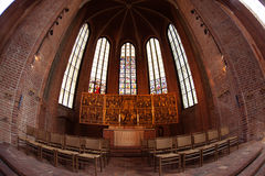 Interior of Lutheran Church Marktkirche Stock Images