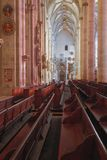 Interior of Lutheran church. Ulm, Baden-Wrttemberg, Germany stock photography