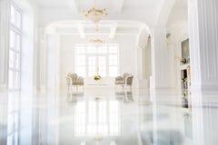 Interior luxuoso bonito do salão imagens de stock