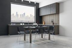 Interior luxuoso da cozinha Fotografia de Stock Royalty Free