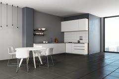 Interior luxuoso da cozinha Fotografia de Stock