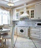 Interior luxuoso da cozinha Fotos de Stock Royalty Free