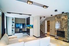 Interior luxuoso da sala de visitas Fotografia de Stock Royalty Free