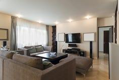 Interior luxuoso do apartamento Imagem de Stock Royalty Free