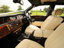 Interior luxuoso do carro Imagens de Stock