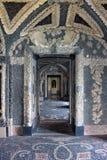 Interior luxuoso do palácio na ilha de Isola Bella no lago Maggiore em Itália imagens de stock