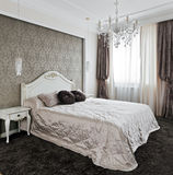 Interior luxuoso do quarto Foto de Stock Royalty Free