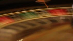 Interior luxuoso e à moda do casino europeu video estoque