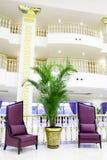 Interior luxuoso moderno da entrada no hotel em Kemer, Fotos de Stock Royalty Free
