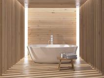 Interior luxuoso moderno do banheiro rendição 3d Foto de Stock Royalty Free