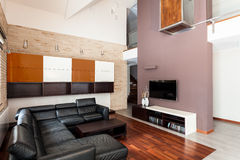 Interior of luxurious apartment Royalty Free Stock Image