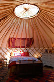 Interior Of Luxurious Holiday Yurt Used For Camping Royalty Free Stock Images