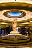 Interior of a luxurious hotel with marble greek statues. Las Vegas, NV, USA - 13th July 2013: Replica naked women Greek statues inside Caesar's Palace royalty free stock image
