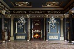 interior luxurious palace τρισδιάστατη απόδοση Στοκ Φωτογραφίες