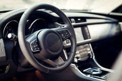 Interior of luxurious sport car Royalty Free Stock Image