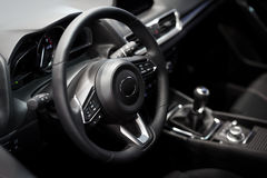 Interior of luxurious sport car. Picture stock photography