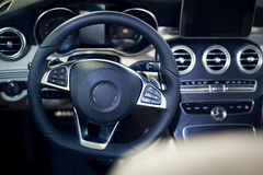Interior of luxurious sport car Royalty Free Stock Photos