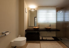 Interior luxury apartment, bathroom Stock Image