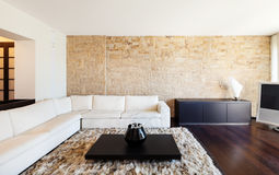 Interior luxury apartment. Beautiful living room stock images