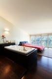 Interior luxury apartment, bedroom Stock Photos