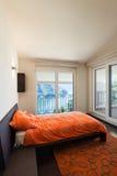 Interior luxury apartment, bedroom Stock Photography