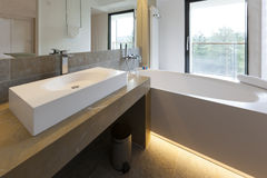 Interior of a luxury bathroom Stock Photos