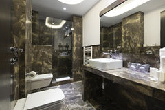 Interior of a luxury bathroom Stock Photos